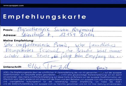 Empfehlung Physiotherapie Friedenau