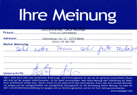 Zahnarzt Berlin Empfehlung Erfahrung