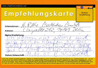 Hermann Rothe Gartenbau 14169 Berlin Zehlendorf Empfehlung Gartencenter Berlin Blumen Pflanzen einkaufen - quopper Stadtinformation