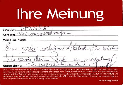 Empfehlung Restaurant Berlin Charlottenburg