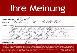 Empfehlung einkaufen Berlin City West Lingerie Fachgeschäft Dessous Bademoden exklusive Damenunterwäsche - quopper Stadtinformation