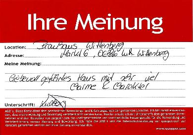 Empfehlung Bewertung Erfahrung Restaurant Lutherstadt Wittenberg Lutherjahr Wittenberg