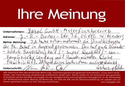 Fassadensanierung Fassadenbeschichtung Trockenbau Innenausbau Malerarbeiten Tapezierarbeit Laminatverlegung CV Belag Linoleum Stuck Innenputz Empfehlung Maler Wittenberg