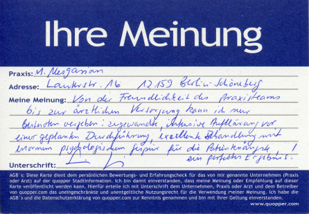 intensive Aufklärung excellente Behandlung Einfühlsamkeit - guter Zahnarzt Oralchirugie Berlin