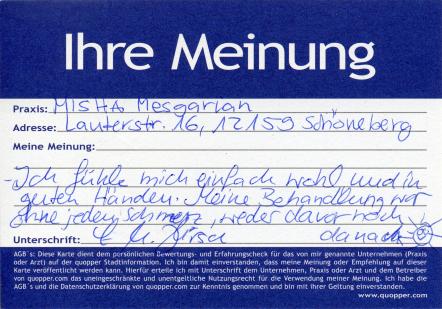 schmerzfrei - guter Oralchiroge Berlin Friedenau Schöneberg